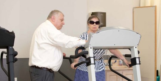 Treadmill work technique for Stroke care at Fairview Adult Care NY