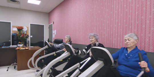 Senior residents during physical therapy session at Fairview ADC