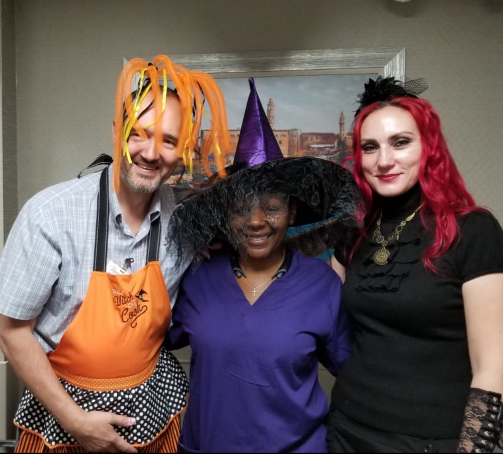 Halloween party celebration at Fairview Adult Day Care Center