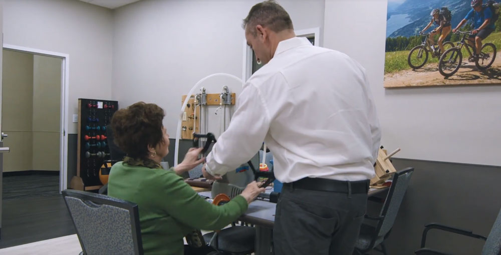 Elderly women at day care center for seniors